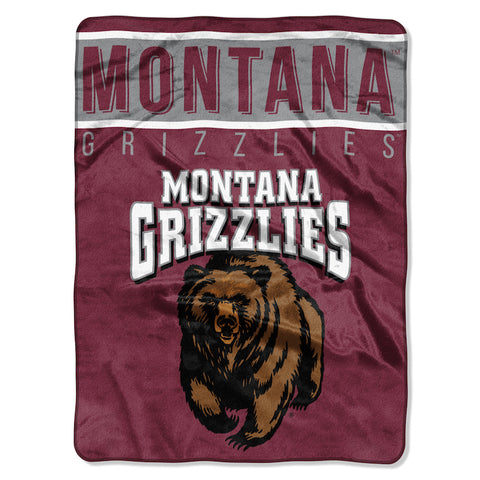 NCAA Montana Grizzlies 60 x 80 Large Plush Raschel Throw Blanket - Bed, Bath, And My Team