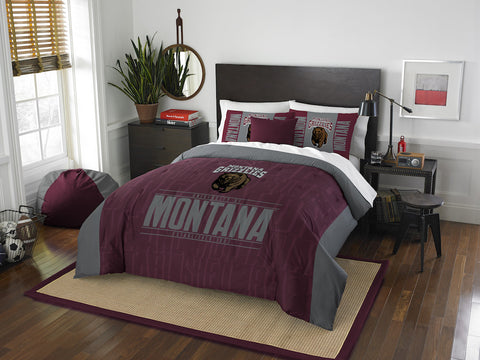 NCAA Montana Grizzlies Queen/Full Comforter and Sham Set - Bed, Bath, And My Team