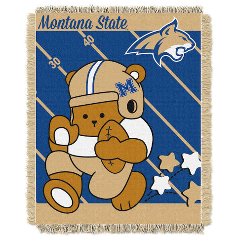 NCAA Montana State Bobcats Baby Blanket - Bed, Bath, And My Team