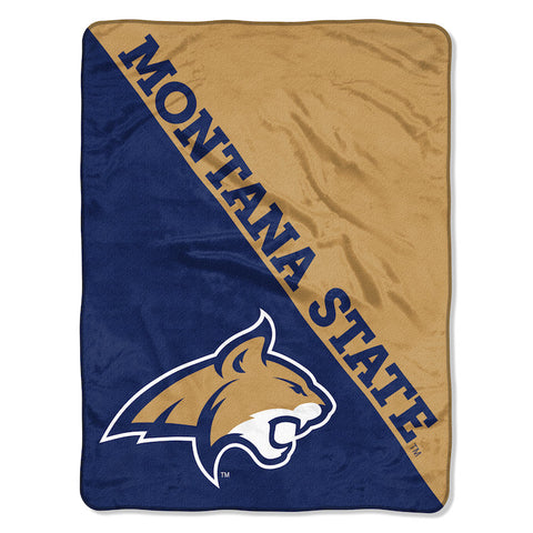 NCAA Montana State Bobcats Micro Raschel Throw - Bed, Bath, And My Team