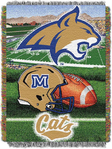 NCAA Montana State Bobcats HOME FIELD ADVANTAGE Tapestry - Bed, Bath, And My Team