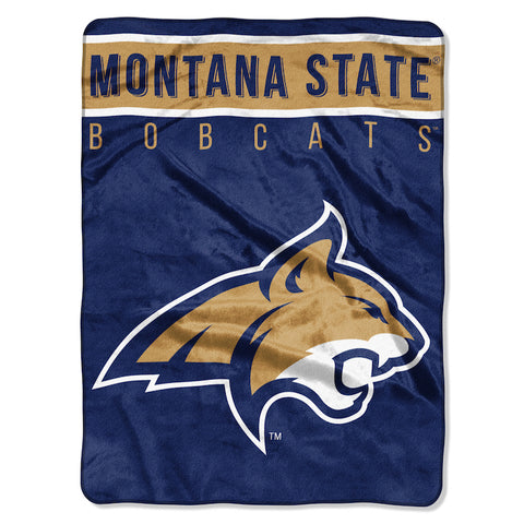 NCAA Montana State Bobcats 60 x 80 Large Plush Raschel Throw Blanket - Bed, Bath, And My Team