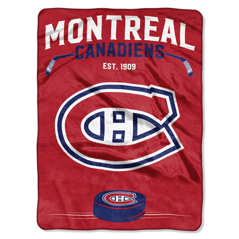 Montreal Canadiens large plush blanket