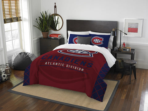 Montreal Canadiens queen/full comforter and 2 shams