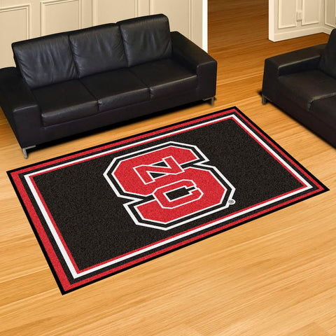 NCAA NC State Wolfpack LOGO 5 X 8 Ft. Area Rug - Bed, Bath, And My Team