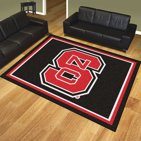 NCAA NC State Wolfpack LOGO 8 X 10 Ft. Area Rug - Bed, Bath, And My Team