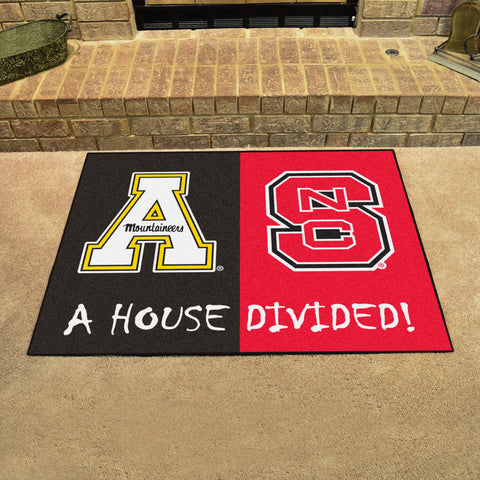NC State Wolfpack Appalachian State Mountaineers Rivalry Rug
