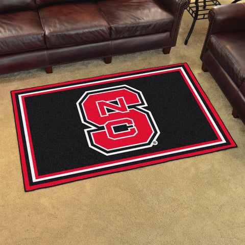 NCAA NC State Wolfpack LOGO 4 X 6 Ft. Area Rug - Bed, Bath, And My Team