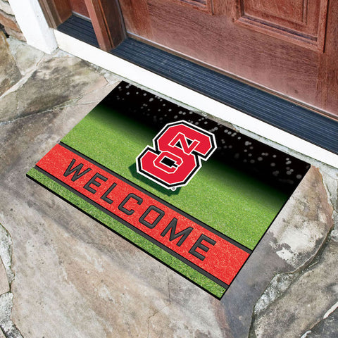 NCAA NC State Wolfpack Recycled Rubber CRUMB Doormat - Bed, Bath, And My Team
