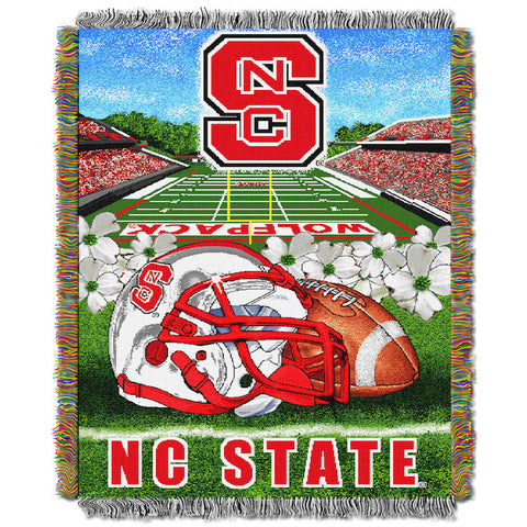 NCAA NC State Wolfpack HOME FIELD ADVANTAGE Tapestry - Bed, Bath, And My Team
