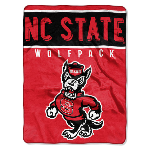 NCAA NC State Wolfpack 60 x 80 Large Plush Raschel Throw Blanket - Bed, Bath, And My Team