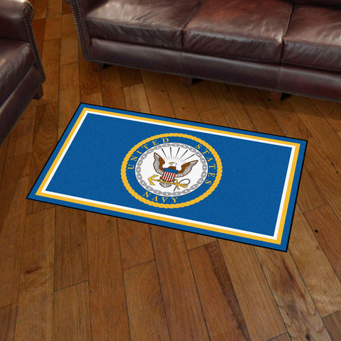NCAA Navy Midshipmen 3 X 5 Ft. Plush Area Rug - Bed, Bath, And My Team