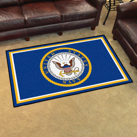NCAA Navy Midshipmen 4 X 6 Ft. Area Rug - Bed, Bath, And My Team