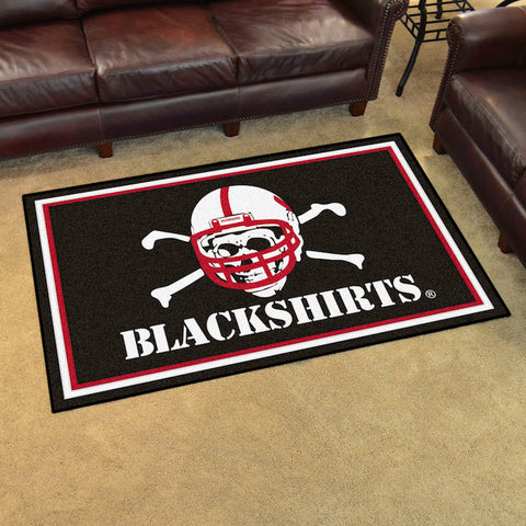 NCAA Nebraska Black Shirts 4 X 6 Ft. Area Rug - Bed, Bath, And My Team