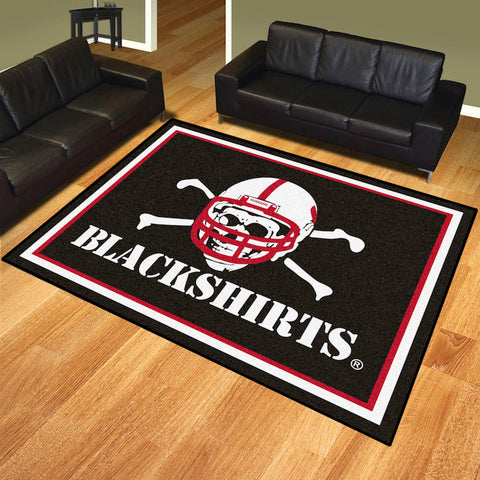 NCAA Nebraska Black Shirts 8 X 10 Ft. Area Rug - Bed, Bath, And My Team