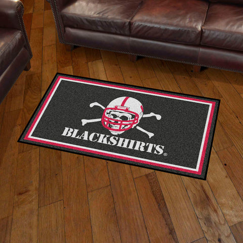 NCAA Nebraska Black Shirts 3 X 5 Ft. Plush Area Rug - Bed, Bath, And My Team