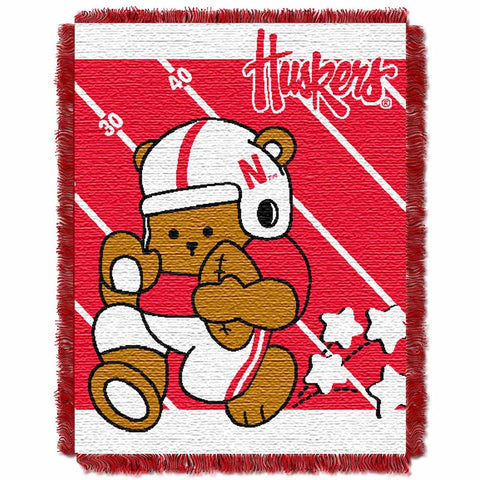 NCAA Nebraska Cornhuskers Baby Blanket - Bed, Bath, And My Team