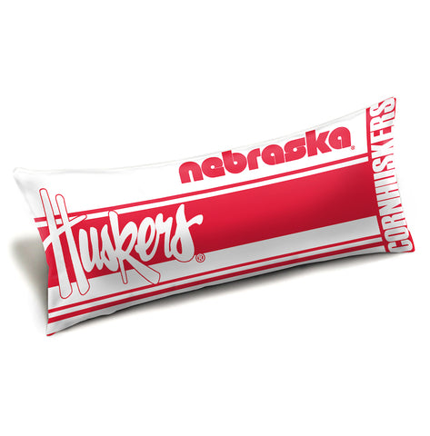 NCAA Nebraska Cornhuskers King Size Body Pillow - Bed, Bath, And My Team