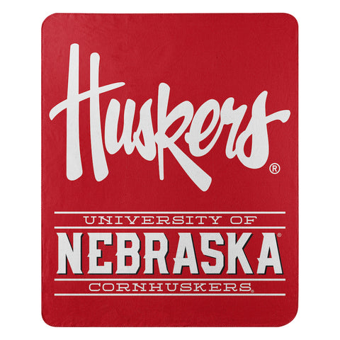 NCAA Nebraska Cornhuskers Fleece Throw ~ 50 x 60 - Bed, Bath, And My Team