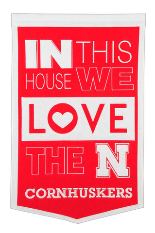 NCAA Nebraska Cornhuskers HOME Hanging Wool Banner - Bed, Bath, And My Team
