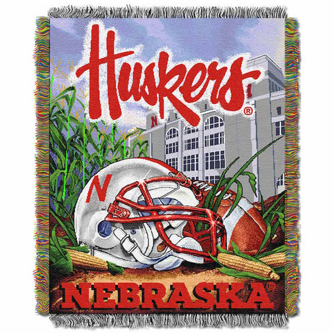 NCAA Nebraska Cornhuskers HOME FIELD ADVANTAGE Tapestry - Bed, Bath, And My Team