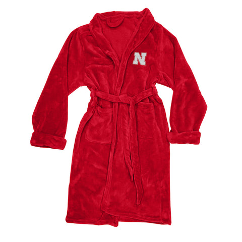 NCAA Nebraska Cornhuskers Silk Touch Mens Bath Robe - Bed, Bath, And My Team
