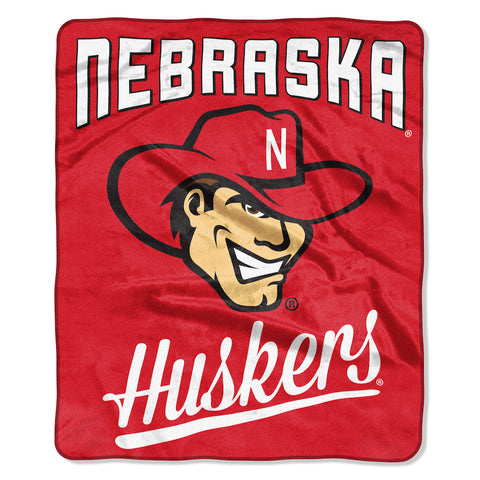 NCAA Nebraska Cornhuskers 50 x 60 Alumni Raschel Throw Blanket - Bed, Bath, And My Team