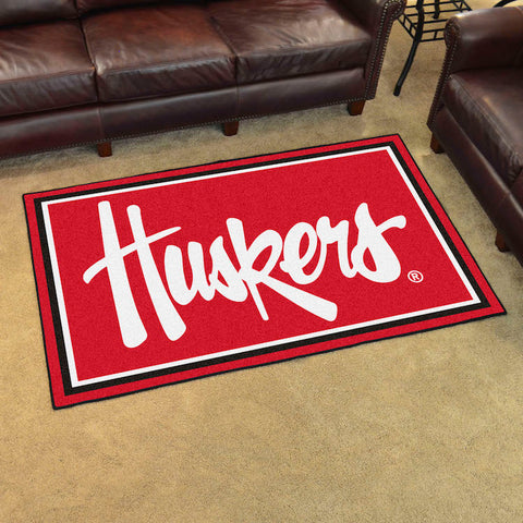NCAA Nebraska Huskers 4 X 6 Ft. Area Rug - Bed, Bath, And My Team