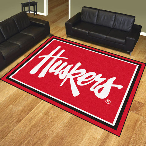NCAA Nebraska Huskers 8 X 10 Ft. Area Rug - Bed, Bath, And My Team