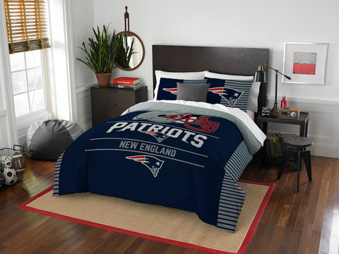 New England Patriots queen/full comforter and 2 shams