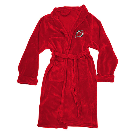 NHL New Jersey Devils Silk Touch Mens Bath Robe (LG/XL) - Bed, Bath, And My Team