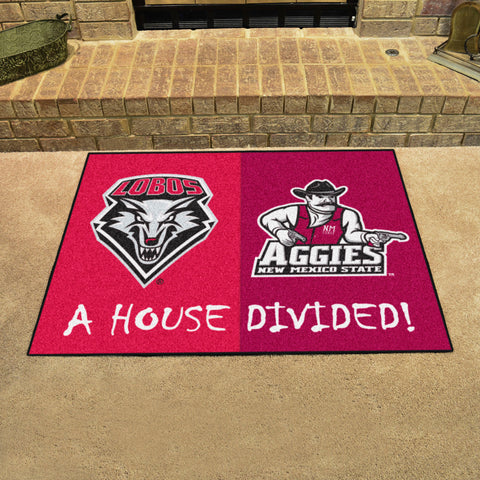 New Mexico Lobos New Mexico State Aggies Rivalry Rug