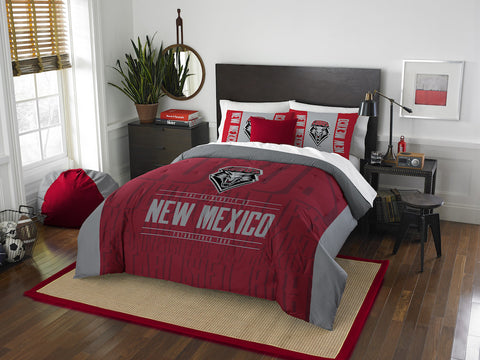 NCAA New Mexico Lobos Queen/Full Comforter and Sham Set - Bed, Bath, And My Team