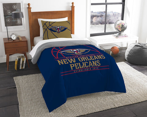 NBA New Orleans Pelicans Twin Comforter and Pillow Sham - Bed, Bath, And My Team