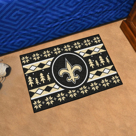 New Orleans Saints Holiday Sweater Rug