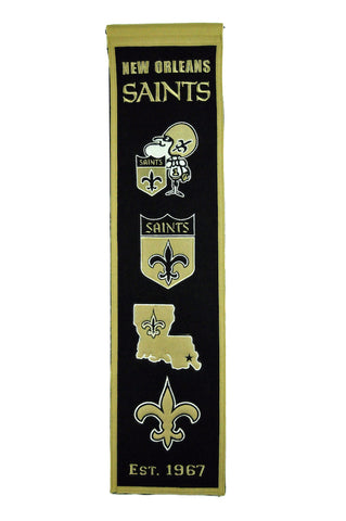 NFL New Orleans Saints HERITAGE Hanging Wool Banner - Bed, Bath, And My Team