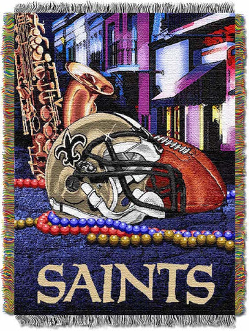 NFL New Orleans Saints HOME FIELD ADVANTAGE Tapestry - Bed, Bath, And My Team