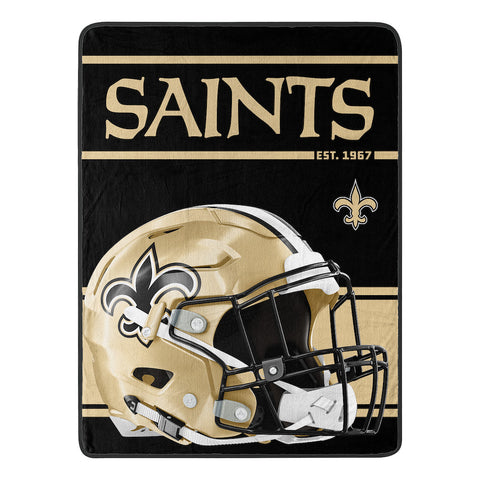 NFL New Orleans Saints Micro Raschel Throw - Bed, Bath, And My Team