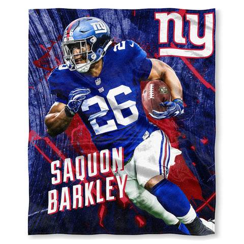 NFL New York Giants Saquon Barkley Silk Touch Throw Blanket - Bed, Bath, And My Team