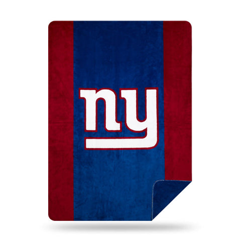 NFL New York Giants 60 x 72 DENALI Silver Knit Throw Blanket - Bed, Bath, And My Team