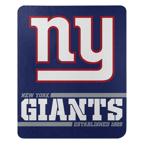 NFL New York Giants Fleece Throw ~ 50 x 60 - Bed, Bath, And My Team