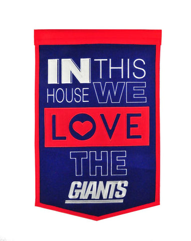 NFL New York Giants HOME Hanging Wool Banner - Bed, Bath, And My Team