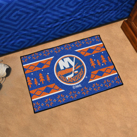 NHL New York Islanders CHRISTMAS SWEATER Starter Rug - Bed, Bath, And My Team