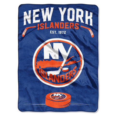 NHL New York Islanders 60 x 80 Large Plush Raschel Throw Blanket - Bed, Bath, And My Team
