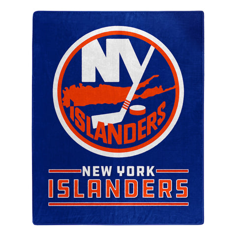 NHL New York Islanders 50 x 60 Jersey Raschel Throw Blanket - Bed, Bath, And My Team