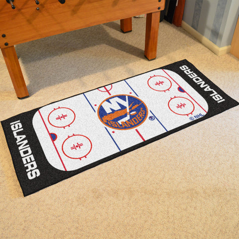 NHL New York Islanders Hockey Rink Carpet Runner Rug - Bed, Bath, And My Team