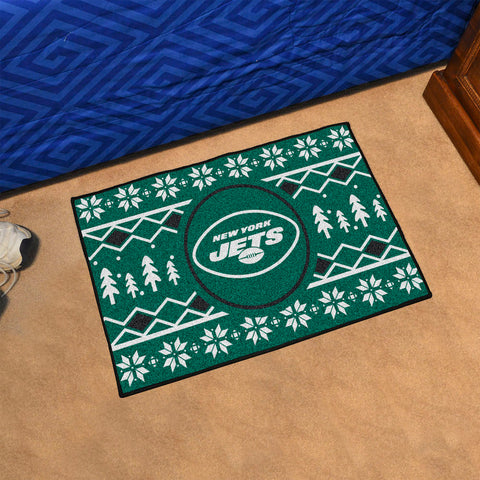 NFL New York Jets CHRISTMAS SWEATER Starter Rug - Bed, Bath, And My Team