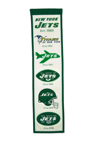NFL New York Jets HERITAGE Hanging Wool Banner - Bed, Bath, And My Team