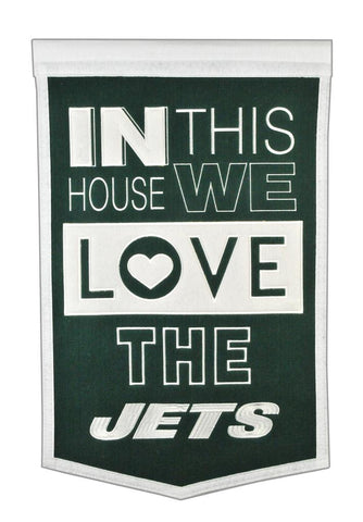NFL New York Jets HOME Hanging Wool Banner - Bed, Bath, And My Team