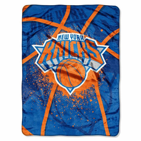 NBA New York Knicks 60 x 80 Large Plush Raschel Throw Blanket - Bed, Bath, And My Team